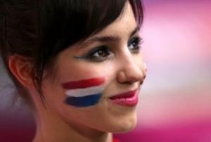 Supportrice de la France brune