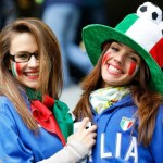 Deux supportrices italiennes