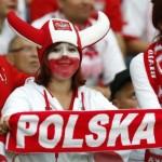 Supportrice polonaise à cornes