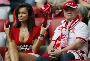 Natalia Siwiec pendant le match contre la Russie