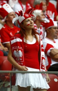 Jolie supportrice polonaise