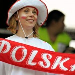 Supportrice polonaise traditionnelle