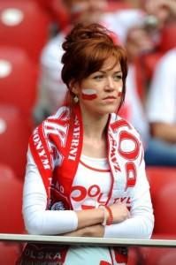 Supportrice de la Pologne blasée