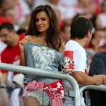 Natalia Siwiec supporte la Pologne