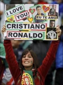 Supportrice fan de Ronaldo