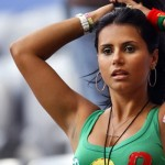 Supportrice portugaise brune