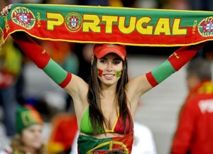 Supportrice portugaise sexy