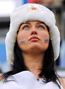 Supportrice russe sexy
