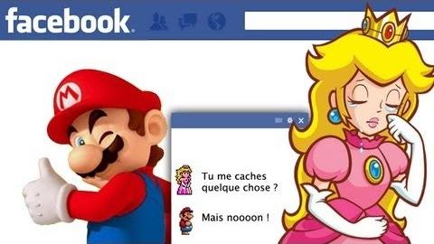 mario et peach sur facebook