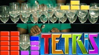 tetris avec des verres vin