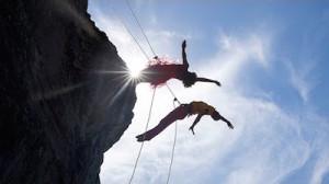danse verticale en montagne